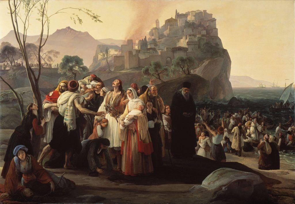 Francesco Hayez, Die Flüchtlinge von Parga, 1831 (Brescia, Civici Musei d'Arte e Storia).