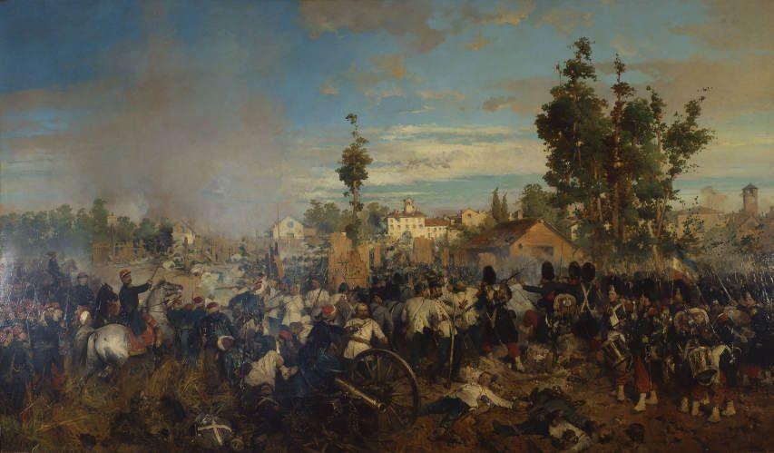 Gerolamo Induno, Die Schlacht von Magenta, 1861 (Milano, Museo del Risorgimento).