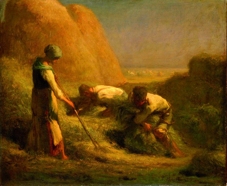 Jean François Millet, Die Kornsammler, 1850, Öl auf Leinwand, 56, 5 x 65 cm (Paris, Musée du Louvre, Département des Peintures)