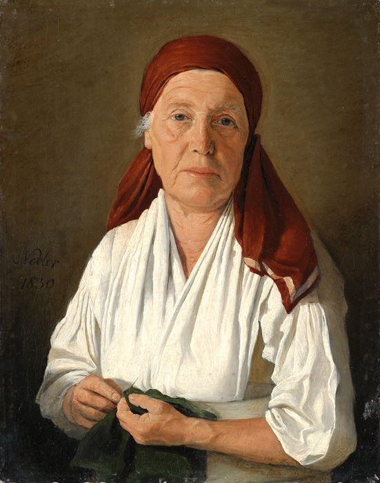 Michael Neder, Alte Frau mit weißer Bluse, 1830, Öl auf Leinwand auf Karton, 18,3 x 14,2 cm © Privatbesitz, Foto: © Belvedere, Wien.