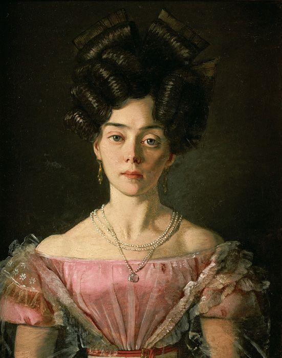 Michael Neder, Junge Dame, 1829, Öl auf Leinwand, 33,5 x 26,5 cm © Belvedere, Wien.