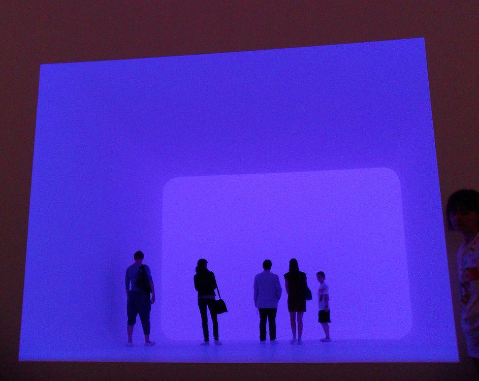 James Turrell, Installationsansicht (blau), Biennale von Venedig 2011, Foto: Alexandra Matzner.