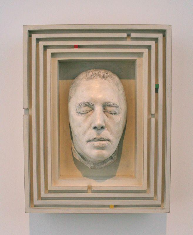 René Iché (1897-1954), Maske von Breton, um 1950, Louvre, Paris, Installationsfoto: Alexandra Matzner.
