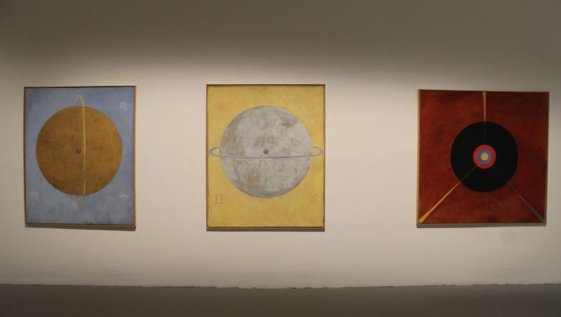 Hilma af Klint (1862-1944), The First Big Series, 1907-1908, Installationsfoto: Alexandra Matzner.