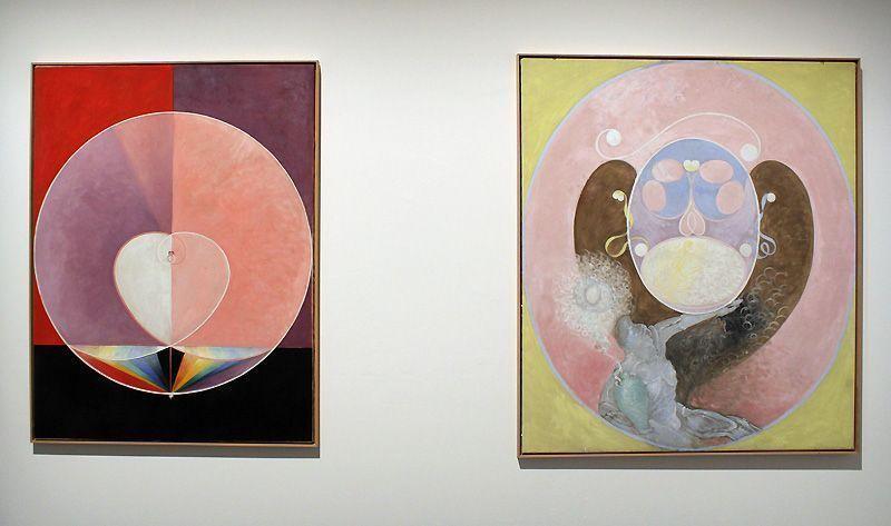 Hilma af Klint (1862-1944), The Dove Nr.13 und Nr.2, Installationsfoto: Alexandra Matzner.