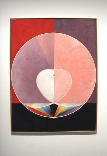 Hilma af Klint (1862-1944), The Dove, Nr. 13, 1915, Installationsfoto Biennale: Alexandra Matzner.