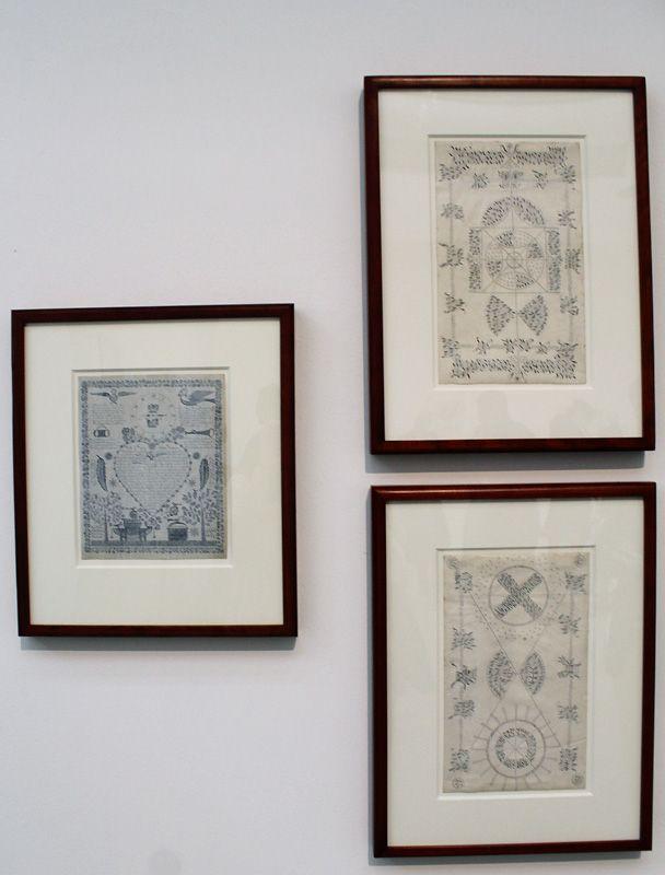 Shaker Gift Drawings, 1841-59, Installationsfoto: Alexandra Matzner.