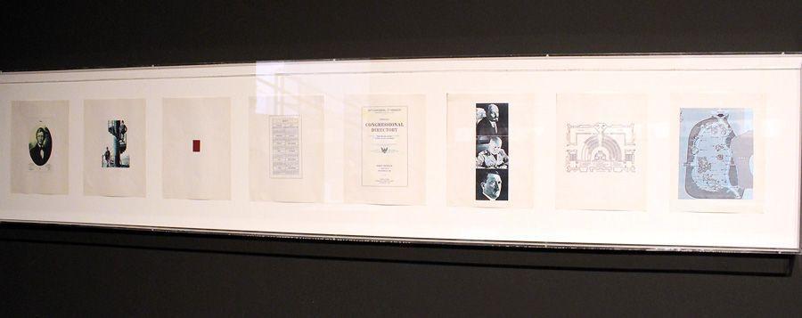 Carl Andre (* 1935), Passport, Detail, 1960, Installationsfoto: Alexandra Matzner.