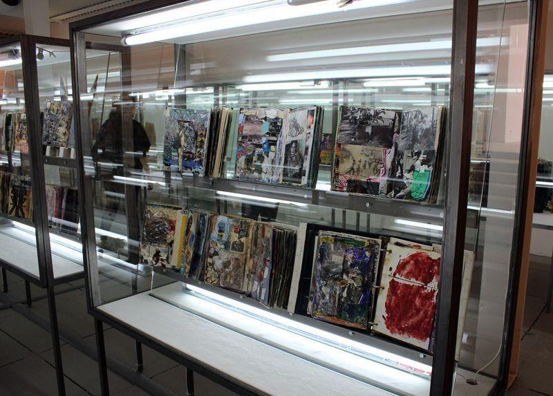 Shinro Ohtake (* 1955), Scrapbooks, ab 1977, Biennale, Installationsfoto: Alexandra Matzner.