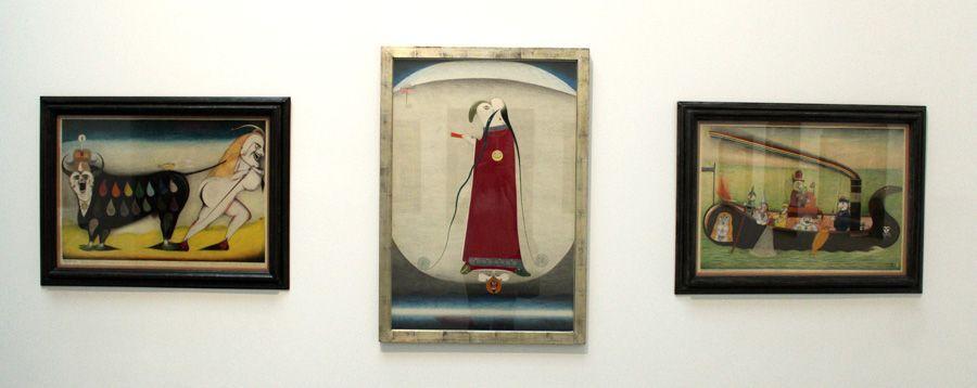 Friedrich Schröder-Sonnenstern (1892-1982) auf der Biennale, Installationsfoto: Alexandra Matzner.