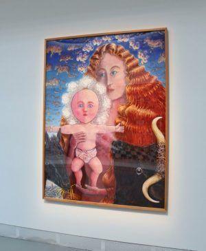 Jean-Frédéric Schnyder (* 1945), Madonna mit Kind, 1986, Installationsfoto: Alexandra Matzner.