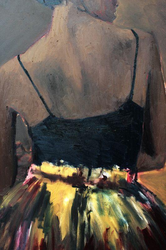 Lynette Yiadom-Boakye (* 1977), Tänzerin, Installationsfoto: Alexandra Matzner.