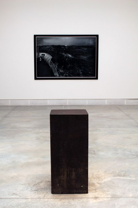 Thierry De Cordier und Richard Serra, Pasolini, 1985, Installationsfoto: Alexandra Matzner
