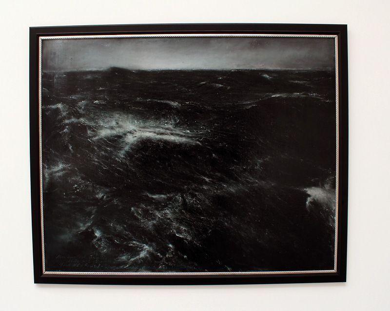 Thierry De Cordier (* 1954), MER MONTÉE, 2011, Installationsfoto: Alexandra Matzner.