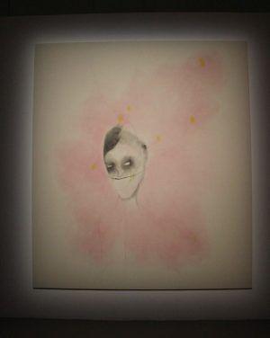 Enrico David (* 1966), untiteled, Acryl, Installationsfoto: Alexandra Matzner.
