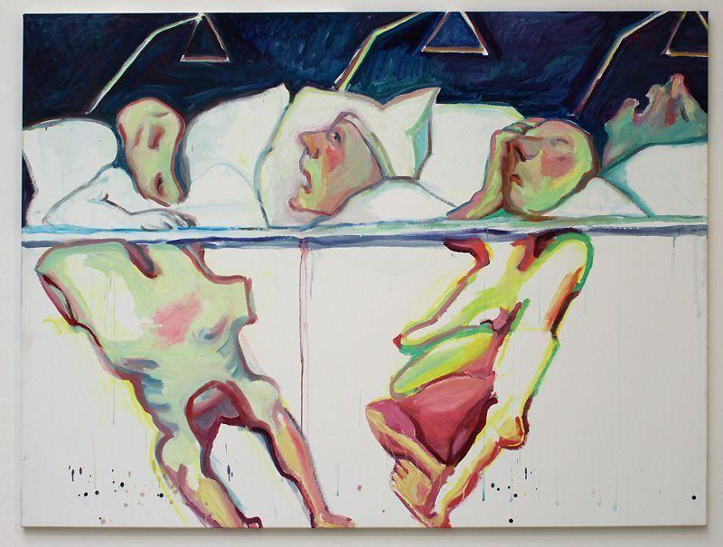 Maria Lassnig (* 1919), Krankenhaus, 2005, Installationsfoto: Alexandra Matzner.