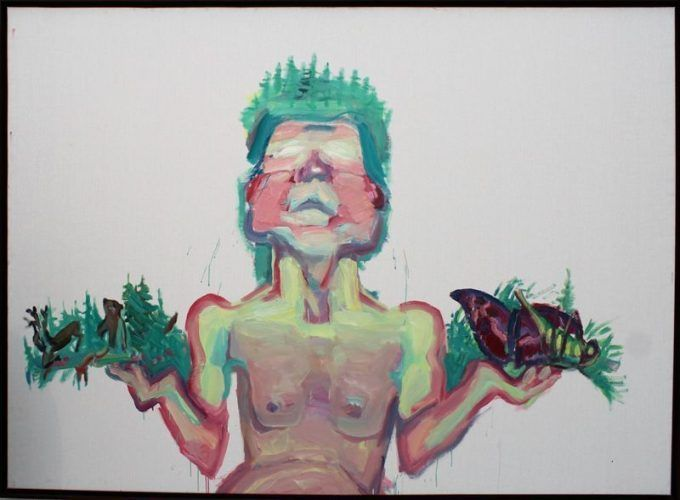 Maria Lassnig (* 1919), Mutter Natur, 1999, Installationsfoto: Alexandra Matzner.