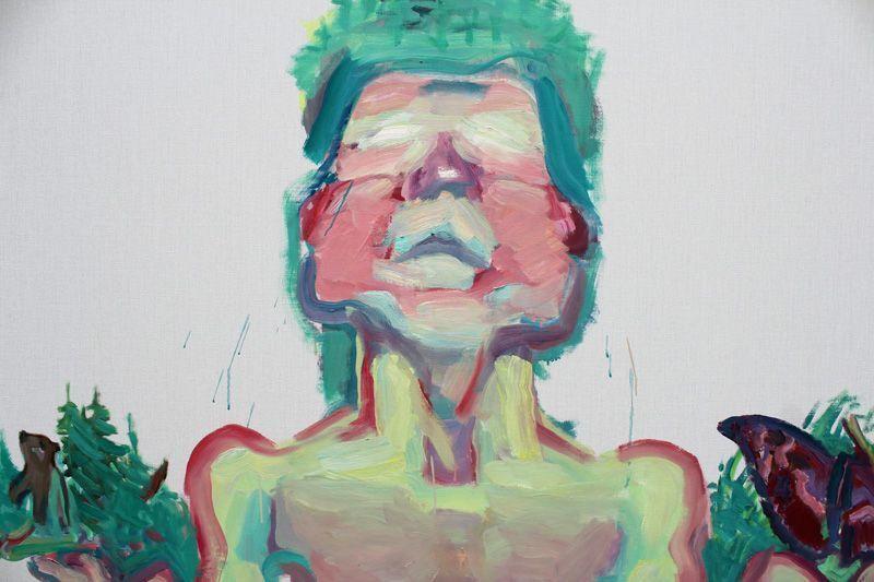 Maria Lassnig (* 1919), Mutter Natur, Detail, 1999, Installationsfoto: Alexandra Matzner.