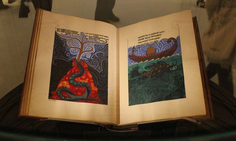Carl Gustav Jung (1875-1961), Das rote Buch, 1913-1929, Foundation of the Works of C.G. Jung, Zürich, Installationsfoto: Alexandra Matzner.