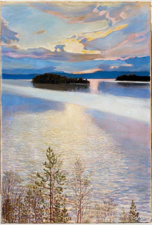 Akseli Gallen-Kallela, Seeblick (Ruovesi), 1901, Öl/Lw, 84 × 57 cm (Finnish National Gallery / Ateneum Art Museum © Photo: Finnish National Gallery / Kirsi Halkola)