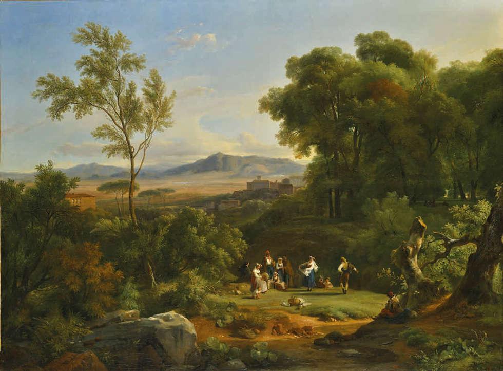 Achille-Etna Michallon, Ansicht von Frascati, 1822 (Salon von 1822) (Musée du Louvre, Paris)
