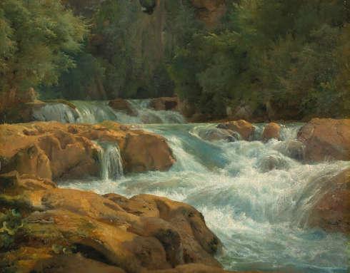 Achille-Etna Michallon, Wildwasser (Tivoli), 1818/1821 (Musée du Louvre, Paris)