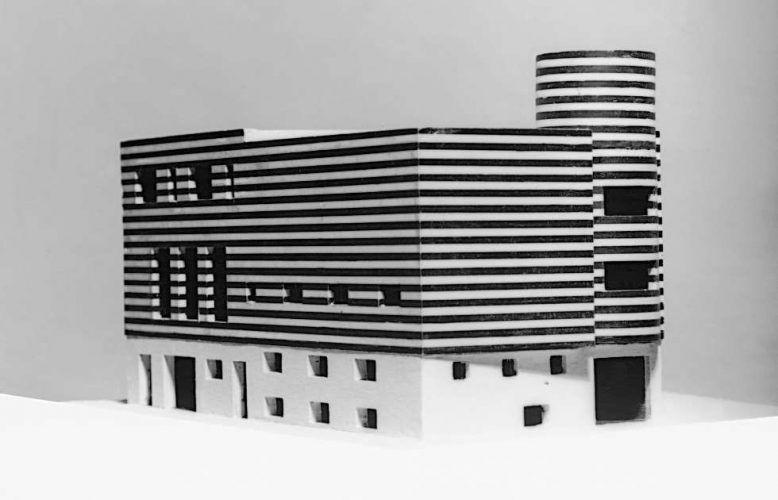 Adolf Loos, Haus Josephine Baker, Paris XVI, Avenue Bugeaud, Frankreich (Projekt für den Um- und Zusammenbau zweier bestehender Häuser), 1927, Modell (© ALBERTINA, Wien)
