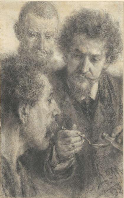 Adolph Menzel (1815–1905), Die Medizin, 1898, Kreide und Kohle auf Papier, 220 x 130 mm (© Privatsammlung in der Hamburger Kunsthalle, Foto: Christoph Irrgang)