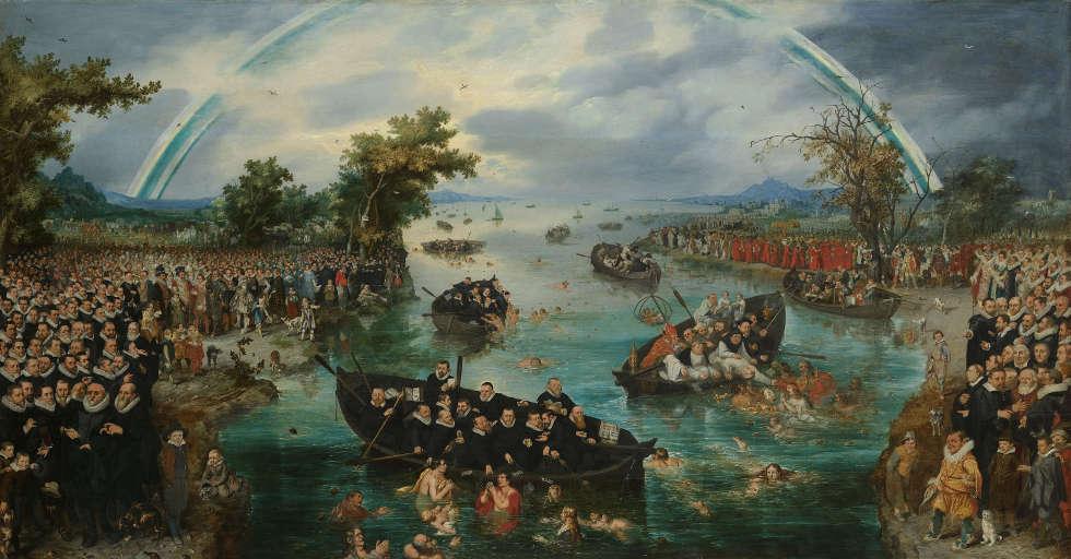 Adriaen Pietersz. van de Venne, Seelenfischer, 1614, Öl/Holz, 98,5 × 187,8cm (Rijksmuseum, Amsterdam, SK-A-447)