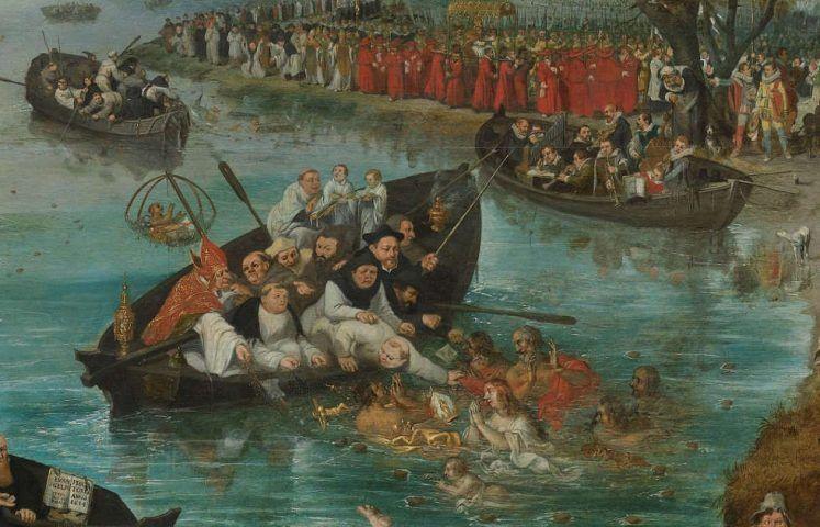 Adriaen Pietersz. van de Venne, Seelenfischer, Detail, 1614, Öl/Holz, 98,5 × 187,8cm (Rijksmuseum, Amsterdam, SK-A-447)