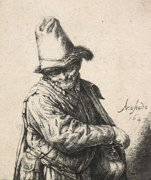 Adriaen van Ostade, Der Leiermann, um 1647