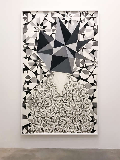 Adriana Czernin, Selbstportrait II, 2018, Aquarell, Bleistift und Buntstift auf Papier, 240 x 148 cm (Courtesy Galerie Martin Janda, Wien© Adriana Czernin)