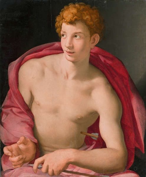 Agnolo Bronzino, Hl. Sebastian, um 1533, Öl/Holz, 87 x 76.5 cm (© Museo Nacional Thyssen- Bornemisza)