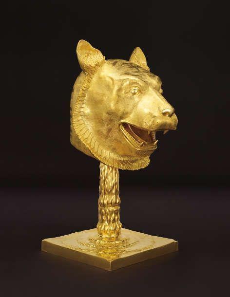Ai Weiwei, Circle of Animals/Zodiac Heads: Gold (Tiger), 2010, Bronze, vergoldet (Images courtesy of the artist, Privatsammlung)