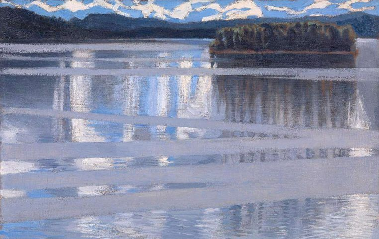 Akseli Gallen-Kallela, Keitele-See, Detail, 1905, Öl/Lw, 53 x 66 cm (© The National Gallery, London)