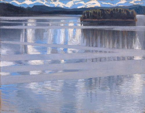 Akseli Gallen-Kallela, Keitele-See, 1905, Öl/Lw, 53 x 66 cm (© The National Gallery, London)