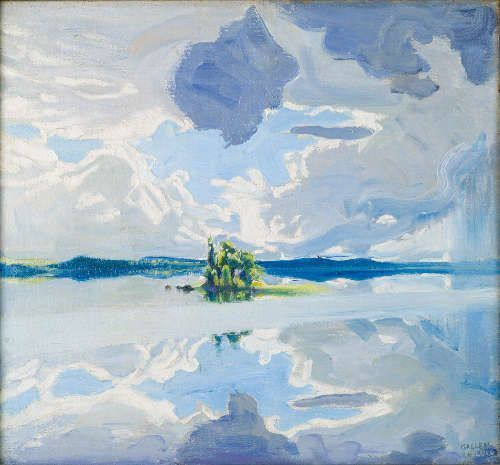 Akseli Gallen-Kallela, Wolken über einem See, 1904–1906, ÖL/Lw, 52 × 56 cm (The Gallen-Kallela Museum © The Gallen-Kallela Museum / photo Jukka Paavola)
