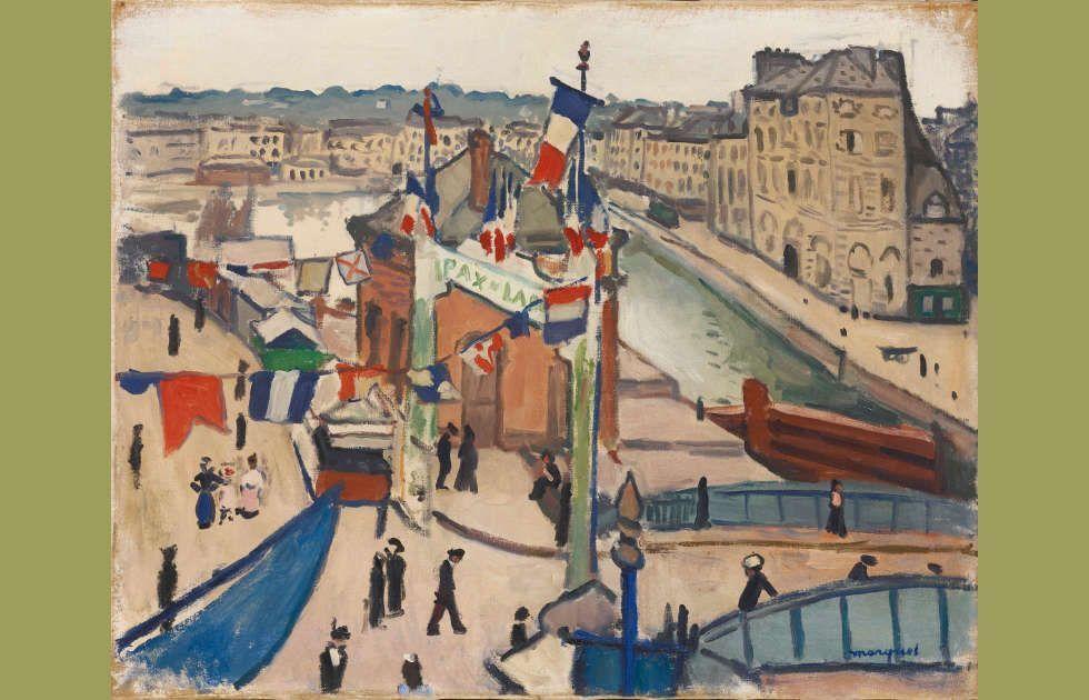 Albert Marquet, Der Nationalfeiertag in Le Havre, 1906 oder 1913, Öl auf Leinwand, 65 x 81 cm (HahnloserJaeggli Stiftung, Winterthur)