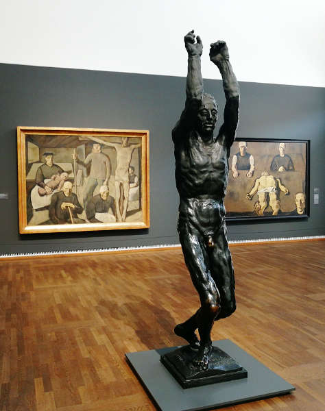 "Albin Egger Lienz, Anton Hanak, Neuaufstellung Leopold Museum, Neuaufstellung Leopold Museum: ""Wien 1900"", Foto: Alexandra Matzner | ARTinWORDS"