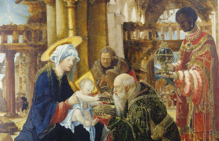 Albrecht Altdorfer, Die Anbetung der Könige, Detail, 1530/35, Lindenholz, 110 x 77,5 cm, Städel Museum, Frankfurt am Main, Foto: Städel Museum - U. Edelmann – ARTOTHEK.