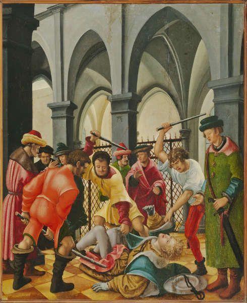 Albrecht Altdorfer, Marter des Hl. Florian, um 1520, Öl auf Holz, 81,5 x 66,3 cm (Prag, Privatsammlung gegen Kaution in der Nationalgalerie © Prag, Nationalgalerie 2019)