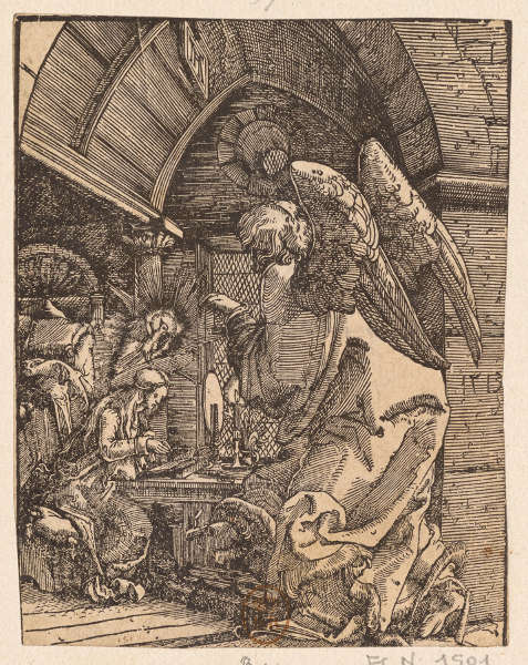 Albrecht Altdorfer, Verkündigung, 1512, Holzschnitt, 12,1 x 9,4 cm (Paris, Bibliothèque nationale de France © Paris, Bibliothèque nationale de France)