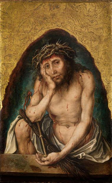 Albrecht Dürer, Christus in der Rast, um 1492-93 (© Staatliche Kunsthalle Karlsruhe)