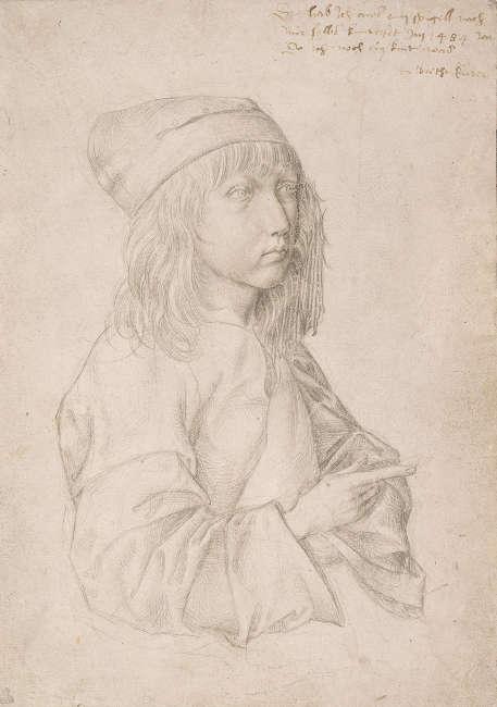 Albrecht Dürer, Selbstbildnis als Dreizehnjähriger, 1484, Silberstift auf grundiertem Papier (© Albertina, Wien)