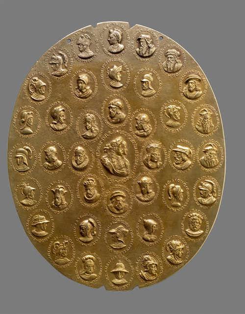 Johann Permann, Alchemistisches Medaillon, 1677, Gold-Silber-Kupfer-Guss (Wien, Kunsthistorisches Museum, Münzkabinett, © KHM-Museumsverband)