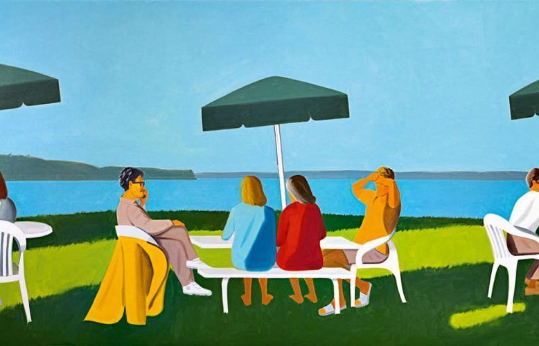 Alex Katz, Beach Stop, Detail, 2001 (ALBERTINA, Wien – The ESSL Collection © Foto: Mischa Nawrata, Bildrecht, Wien, 2020)