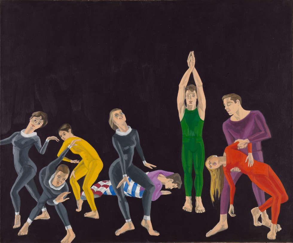Alex Katz, Paul Taylor Dance Company, 1963/64, Öl/Lw, 213 x 244 cm (Udo und Anette Brandhorst Sammlung, Foto: Haydar Koyupinar, Bayerische Staatsgemäldesammlungen, München © Alex Katz, VG Bild-Kunst, Bonn 2018)