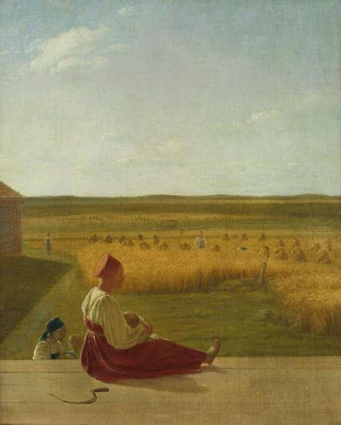 Alexei Wenezianow, Bei der Ernte. Sommer, Mitte 1820er Jahre, Öl auf Leinwand, 60,6 × 49 cm (© Staatliche Tretjakow-Galerie, Moskau)