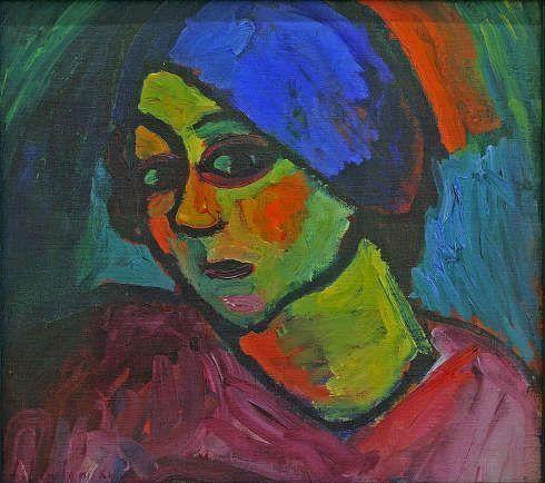 Alexej von Jawlensky, Helene mit blauem Turban, 1911, Öl/Pappe, 48,1 x 53,3 cm (Kunstmuseum Bonn, Dauerleihgabe aus Privatsammlung seit 2003)