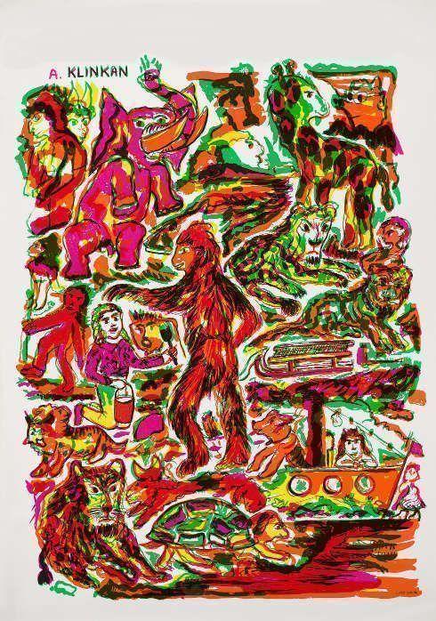 "Alfred Klinkan, Plakat Galerie ""De zwarte Panter"", Antwerpen 1981 (Foto: Universalmuseum Joanneum/N. Lackner)"